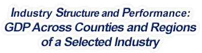 Connecticut - Gross Domestic Product Across Counties and Regions of a Selected Industry